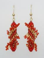 Chinese Red Dragon Twist with Gold-Filled (Tantalizing Twists Collection)