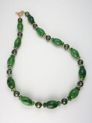Emerald Isles Necklace (chrysocolla, freshwater pearls, gold-filled beads)