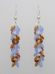 Sterling Silver Periwinkle and Copper Dazzling Dangles