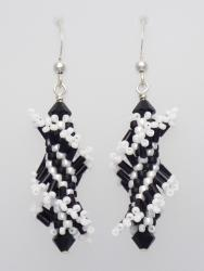 Black & White Twist with Sterling Silver (Tantalizing Twist Collection)