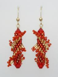 Tantalizing Twists - Chinese Red Dragon Twist Earring Kit