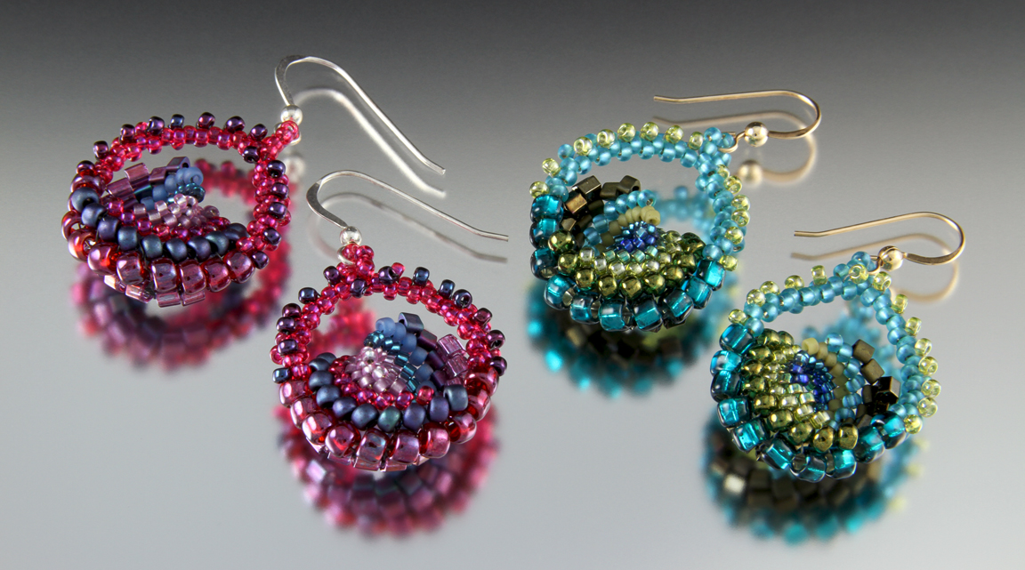 Peacock Petals Earrings by Carrie Johnson
